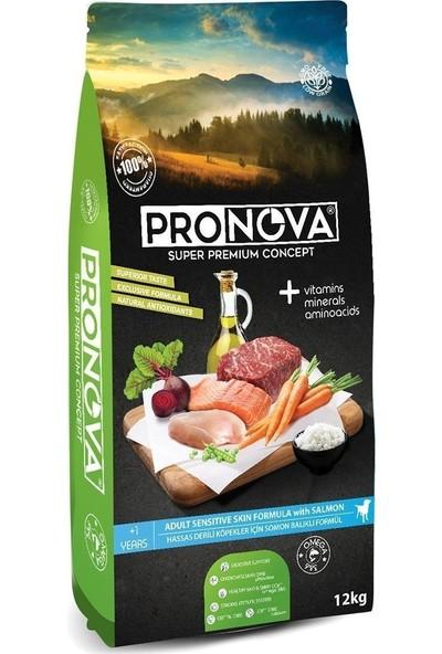 Pronova Hipoalerjenik Düşük Tahıllı Somon Balıklı Yetişkin Köpek Maması 12 Kg
