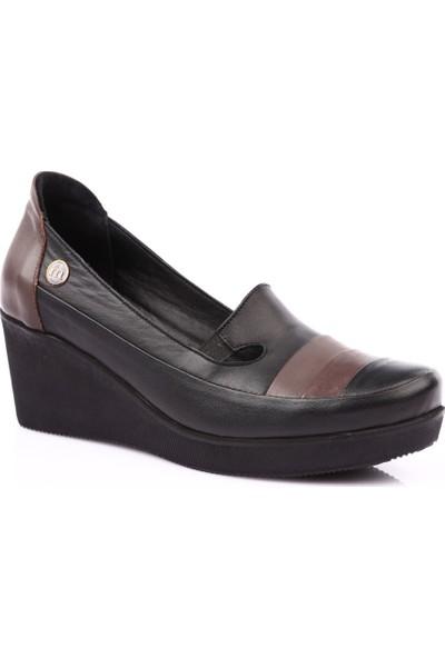 Mamma Mia D19Ya-250 Kadın Günlük Ayakkabı Siyah Pen - Kum
