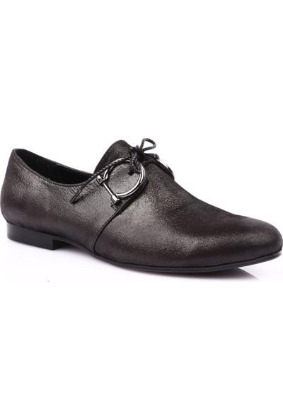 Mamma Mia D19Ya-3225 Kadın Günlük Ayakkabı Siyah Simli Flotur