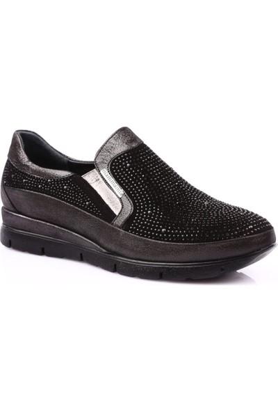 Mamma Mia D19Ya-670 Kadın Günlük Ayakkabı Siyah Ays