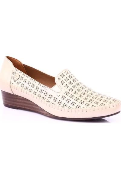 Mamma Mia D19Ya-780 Kadın Günlük Ayakkabı Bej Sedef