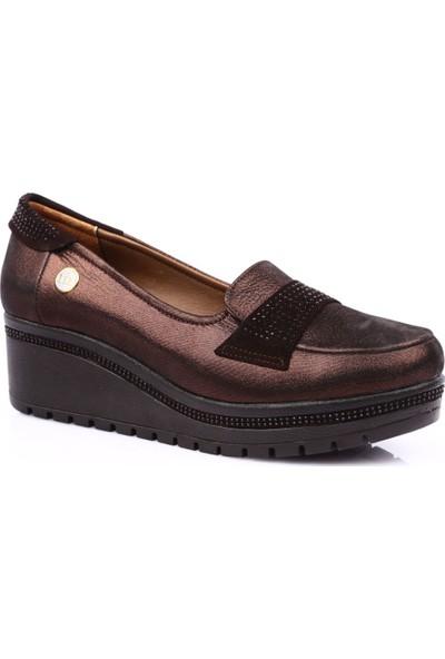 Mamma Mia D19Ya-945 Kadın Günlük Ayakkabı Bakır - Kahverengi