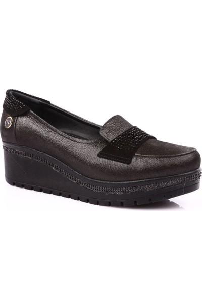 Mamma Mia D19Ya-945 Kadın Günlük Ayakkabı Siyah Süet
