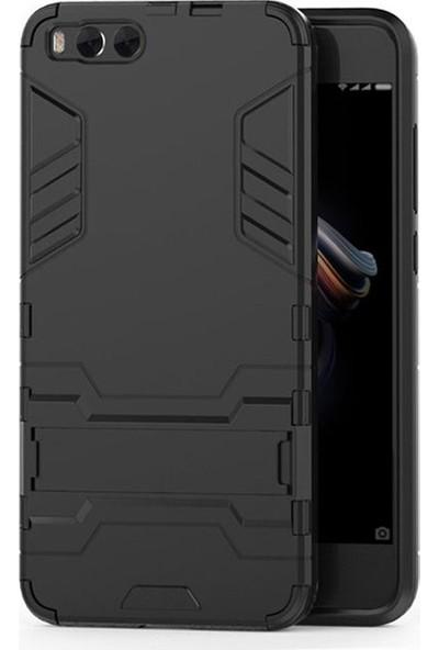 Microcase Xiaomi Mi Note 3 Alfa Serisi Armor Standlı Kılıf - Siyah
