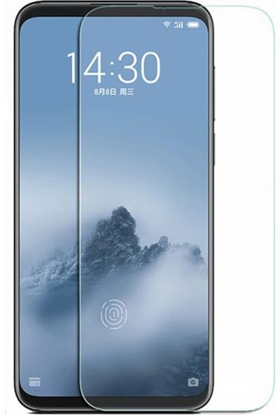 Microcase Meizu 16TH Tempered Glass Cam Koruma - Şeffaf