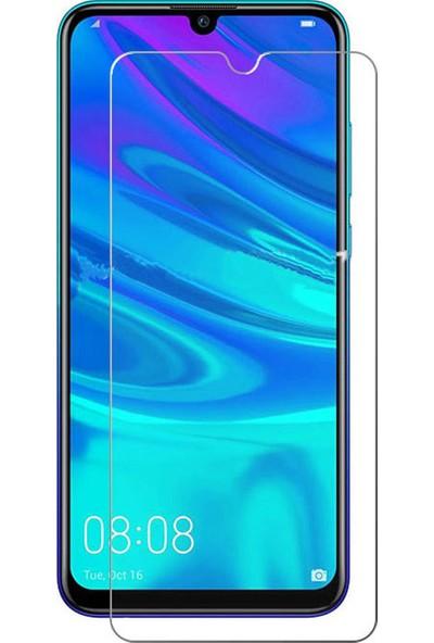 Microcase Huawei P Smart 2019 Tempered Glass Cam Koruma - Şeffaf