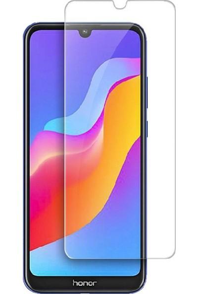 Microcase Huawei Honor Play 8A Tempered Glass Cam Koruma - Şeffaf
