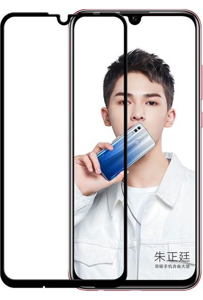 Microcase Huawei Honor 10 Lite Tam Kaplayan Çerçeveli Tempered Ekran Koruyucu - Siyah