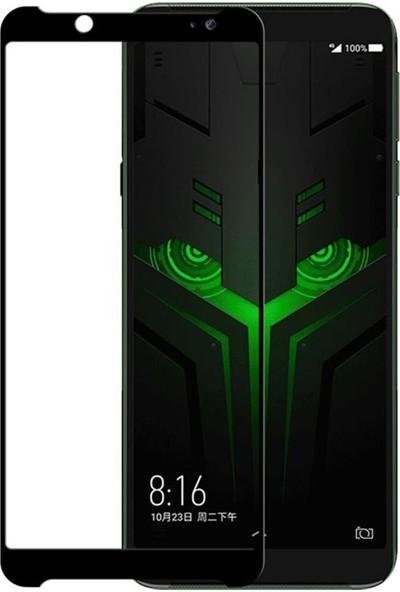 Microcase Xiaomi Black Shark 2 Helo Tam Kaplayan Çerçeveli Tempered Ekran Koruyucu - Siyah