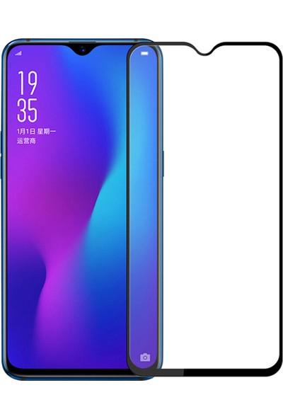 Microcase Oppo K1/R17/R17 Pro Tam Kaplayan Çerçeveli Tempered Ekran Koruyucu - Siyah