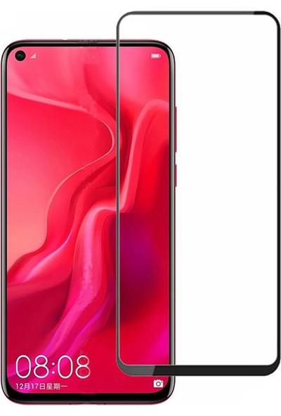 Microcase Huawei Nova 4 Flexi Nano Esnek Tam Ekran Koruma Tempered Cam - Siyah