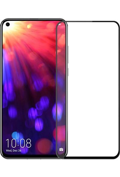 Microcase Huawei Honor View 20 Flexi Nano Esnek Tam Ekran Koruma Tempered Cam - Siyah