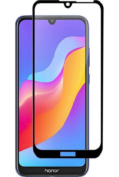 Microcase Huawei Honor Play 8A Flexi Nano Esnek Tam Ekran Koruma Tempered Cam - Siyah