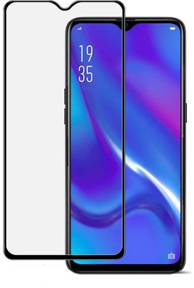 Microcase Oppo RX17 Neo Tam Kaplayan Çerçeveli Tempered Ekran Koruyucu - Siyah