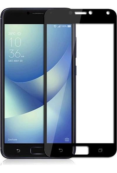 "Microcase Asus Zenfone 4 Max ZC554KL 5.5"" Tam Kaplayan Çerçeveli Tempered Ekran Koruyucu - Siyah"