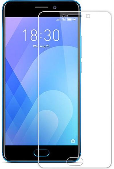 Microcase Meizu Pro 7 Tempered Glass Cam Koruma - Şeffaf