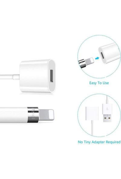 Microcase Apple Pencil için USB Şarj Kablosu - Beyaz