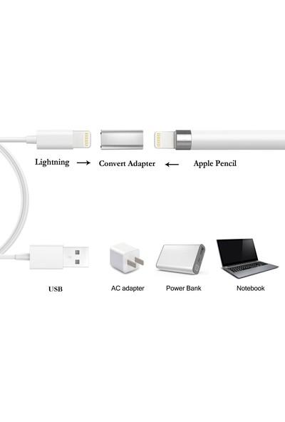 Microcase Apple iPad Pencil için Lightning Çevirici Adaptör - Gümüş