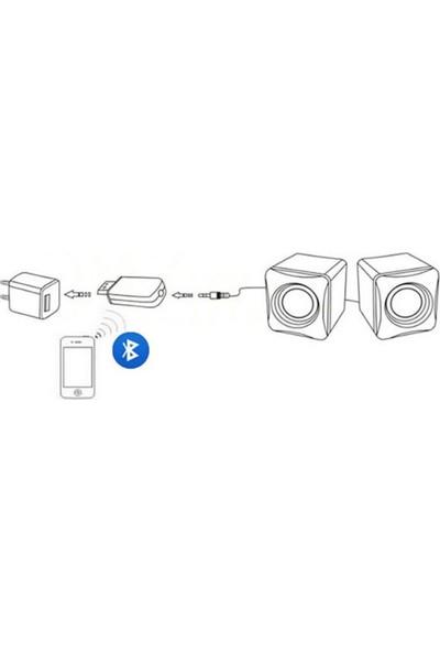 Microcase Bluetooth Kablosuz Müzik Alıcısı USB Adaptör Aux Receiver