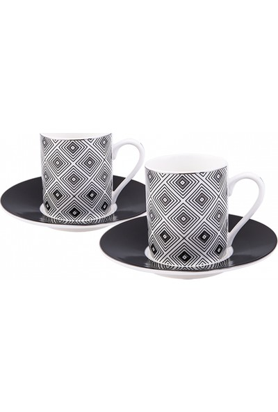 Emsan Myras 6 Kişilik Kahve Fincan Takımı Platin