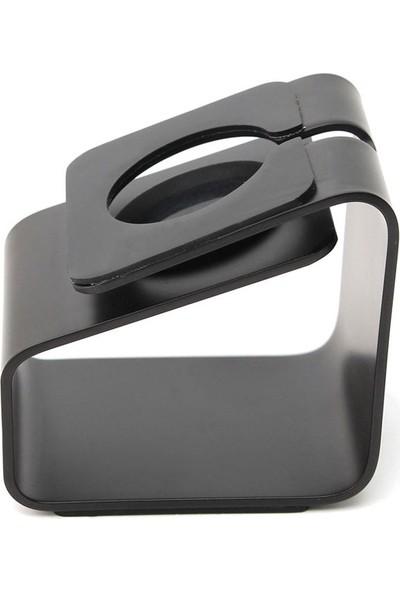 Microcase Apple Watch için Alüminyum Şarj Standı - Siyah