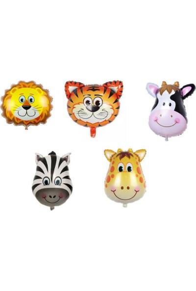 Parti Safari Hayvanları Folyo Balon 5li