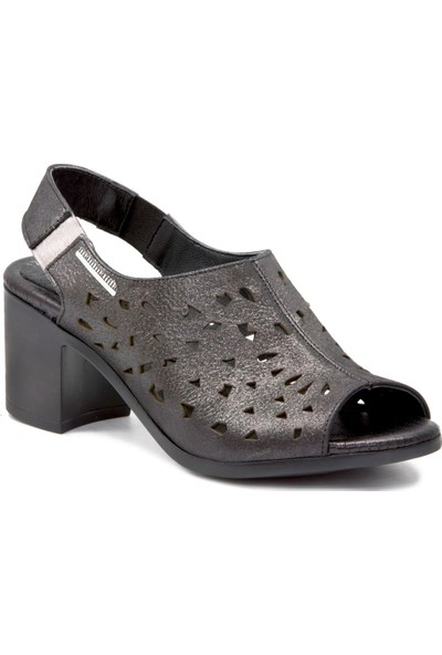 Mammamia D19YS 1245 Platin Terlik Sandalet