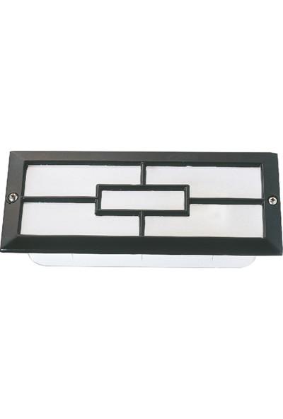 Sensa Marka Sıva Altı Orta Kare Model Alüminyum Enjeksiyon Döküm Armatür , Siyah Renk