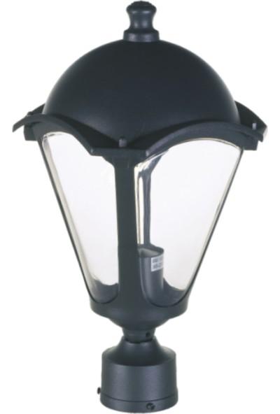 Sensa Marka Roma Direk Üstü Model Alüminyum Enjeksiyon Döküm Fener , Siyah Renk