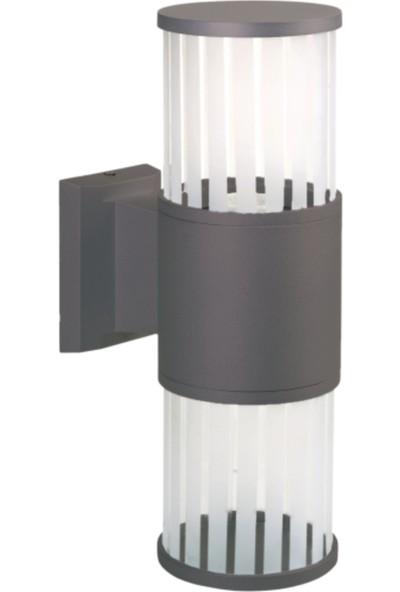 Sensa Marka Fıçı Çiftli Model Alüminyum Enjeksiyon Döküm Aplik , Milenyum Gri Renk