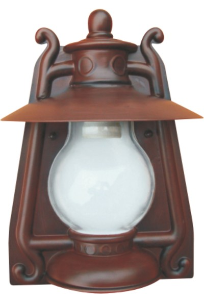 Sensa Marka Gaz Lambası Model Alüminyum Enjeksiyon Döküm Yarım Aplik , Antik Bronz Renk