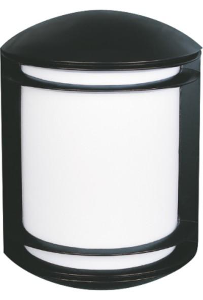 Sensa Marka Yarım Silindir Model Alüminyum Enjeksiyon Döküm Aplik , Siyah Renk