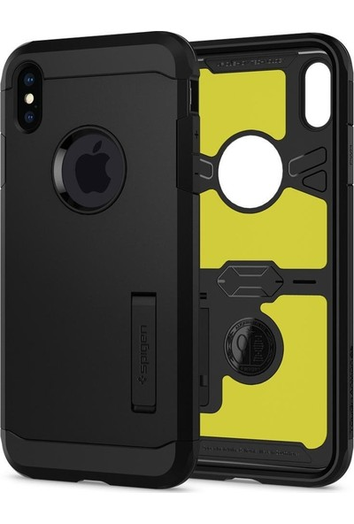 Spigen Apple iPhone XS / iPhone X Kılıf Tough Armor XP Black - 063CS25623
