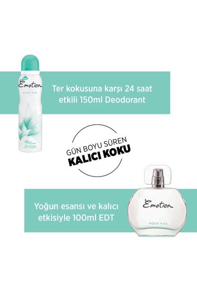 Emotion Aqua Kiss EDT Kadın Parfüm 50 ml & Deodorant 150 ml