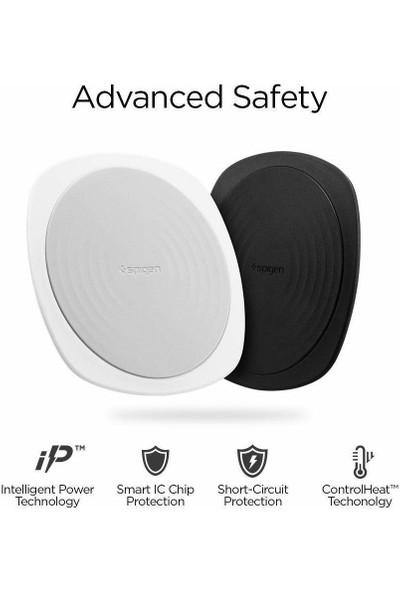Spigen Essential F305W 10W IP67 Suya Dayanıklı Hızlı Kablosuz Şarj Cihazı (Qi Sertifikalı Tüm Cihazlar ile Uyumlu) White - 000CH22618