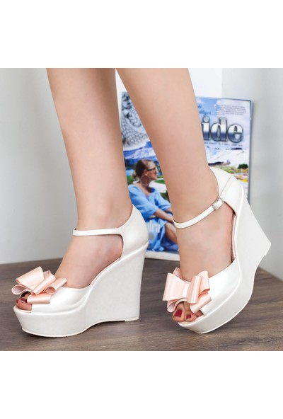 Primo Passo Gelin Dolgu Topuklu Ayakkabı