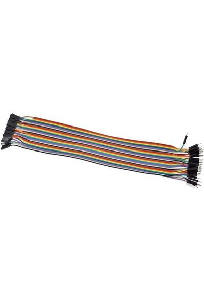 Bakay Jumper Kablo40 Pin 30Cm Dişi Erkek Dupont Kablo