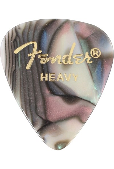 Fender 351 Premium Celluloid Picks Abalone Heavy - 1 Adet Pena
