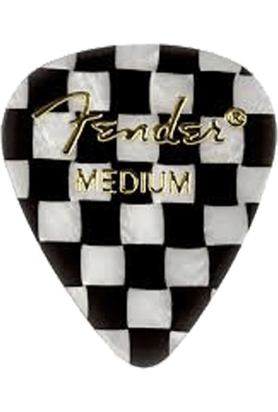 Fender 351 Shape Graphic Picks Checker - Medium - 1 Adet Pena