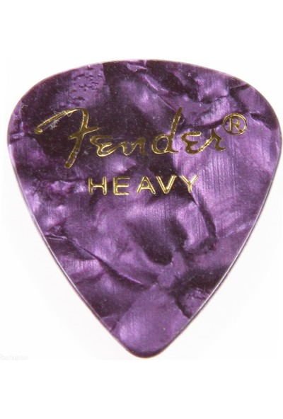 Fender 351 Premium Celluloid Picks Purple Moto Heavy - 1 Adet Pena