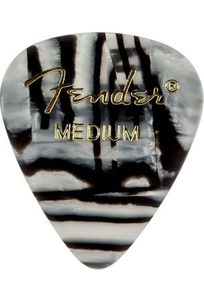 Fender 351 Shape Graphic Picks Zebra - Medium - 1 Adet Pena