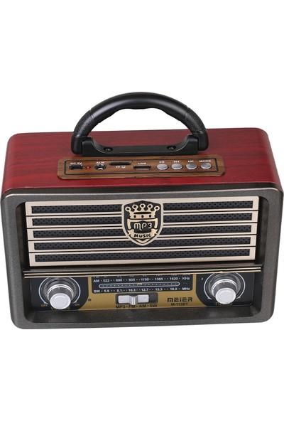 Meier Smart Sepet M-113 BT USB/SD/MP3 Bluetooth Şarjlı Nostaljik Radyo