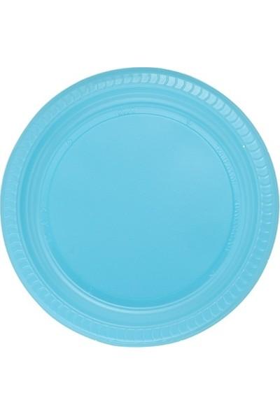 Roll-Up Mavi 22 cm Plastik Tabak 25' li