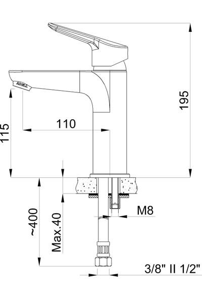 Adell Flap Lavabo Bataryası