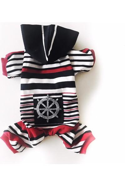 Kemique Chique Stripe Nautıca Tulum Kedi Kıyafeti XL