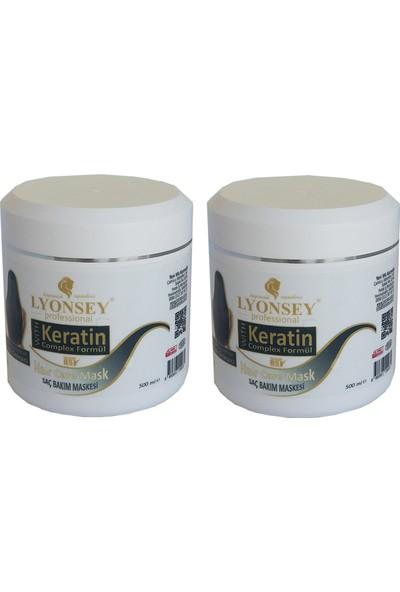 Lyonsey Professional Saç Bakım Maskesi Keratin Complex Formül 2 Adet 500 ml