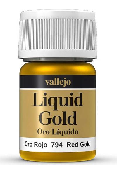 Vallejo 70794 Liquid Red Gold Maket Boyası
