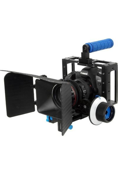 Dslr İçin Camera Cage + Follow Focus + Matte Box