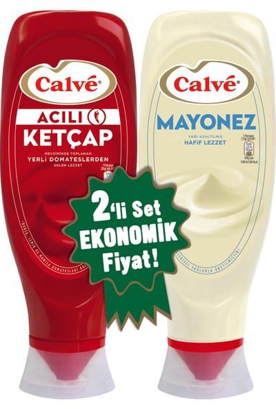 Calve Acılı Ketçap + Mayonez 2'li Set 1140 gram