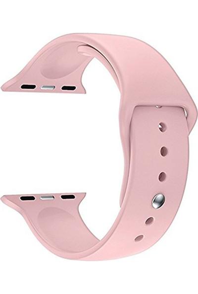 Microsonic Apple Watch Series 2 38 mm Silikon Kordon Pembe